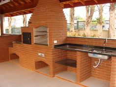 - Best ideas for decoration and makeup - Parrilla Exterior, Outdoor Oven, Outdoor Kitchen Design, Barbecue Grill, Outdoor Living, Outdoor Decor, Pergola Plans, Interior Design Living Room, Sweet Home