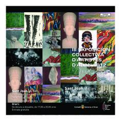 III Exposición Colectiva de Artistas de Aran. Del 1 de Dic. al 5 de Enero 2013 en Sant Joan, Arties.