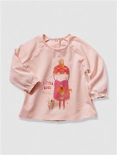 b76c62c53aa34 T-shirt bébé fille imprimé BLANC+EAU DE ROSE - vertbaudet enfant Accessoire  Bébé