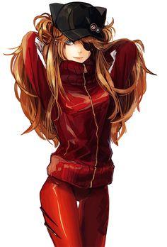 Evangelion, Asuka, by dadui