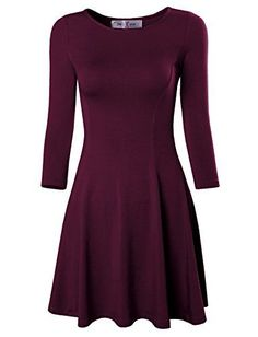 Tom's Ware Women's Casual Slim Fit and Flare Round Neckline Dress *** ADDITIONAL INFO @ http://www.passion-4fashion.com/clothing/toms-ware-womens-casual-slim-fit-and-flare-round-neckline-dress/?a=8235