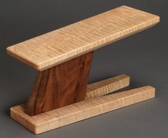 Take a Stand classical guitar footstool. Curly maple and eastern walnut.