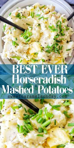 Quick easy horseradish mashed potatoes are the perfect side dish! Serve with chicken, fish or your Sunday roast! #mashed potatoes @sweetcaramelsunday