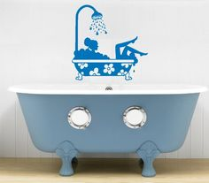 Housewares Vinyl Decal Beautiful Girl Taking Bath Home Wall Art Decor Removable Stylish Sticker Mural Unique Design for Any Room Decal House http://www.amazon.com/dp/B00EEABLB4/ref=cm_sw_r_pi_dp_4TPUtb0D5ZB4HSN2