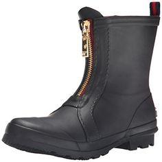Tretorn Women's Lina Wnt Rain Boot, Black/Black, 7 M US