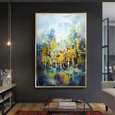Gold art abstract trees painting on canvas wall art pictures for living room hallway acrylic thick texture original landscape quadros decor - Metal Art Abstract Tree Painting, Abstract Canvas, Canvas Wall Art, Abstract Trees, Images D'art, Hallway Art, Art Mur, Photo D Art, Metal Tree Wall Art