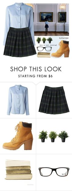 """""""Again"""" by alexandra-provenzano ❤ liked on Polyvore featuring Helmut Lang, French Toast, Charlotte Russe, Ray-Ban and TEM"""