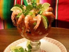 """""""Cocktail Campechana"""", prawn cocktail Campechana-style, from Campeche in southeast Mexico! Mexican Food! #IwannagotoCampeche http://gotomexico.co.uk/cook-mexican/"""