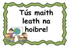 Seanfhocail (Gaeilge) Irish Proverbs Poster Set Gaelic Words, 6 Class, Irish Proverbs, Irish Language, Classroom Rules, Classroom Ideas, National School, Curriculum, Teaching