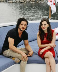 Kit Harrington and Emilia Clarke at SDCC