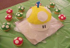 Super Mario Bros. TOAD Birthday Cake.  THE KING TOOOAAAD!