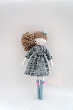 Handmade rag doll Lulu ooak cloth art rag by lassandaliasdeana