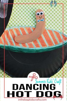 Dancing Hot Dog on the BBQ Kids' Craft • In the Bag Kids' Crafts<br> Summer Crafts For Toddlers, Diy Crafts For Kids Easy, Paper Plate Crafts For Kids, Animal Crafts For Kids, Craft Projects For Kids, Craft Activities For Kids, Kids Crafts, Paper Crafts, Free Activities