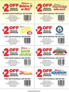 Discount coupons for attractions in pigeon forge tn