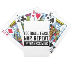 Thanksgiving Repeat Bicycle Playing Cards - home gifts ideas decor special unique custom individual customized individualized