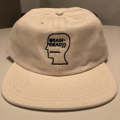 9126d5e124716 Brain Dead herringbone cotton logo cap hat off white BNWOT DS 2016 kanye  yeezy  fashion