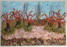 Herfst schilderij. Gemaakt door Gerrie van Leeuwen