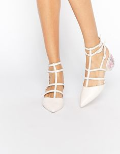 Image 1 of ASOS SPECTACLE Caged Pointed Heels
