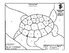 Free Stained Glass Pattern 2029-Swimming Turtle