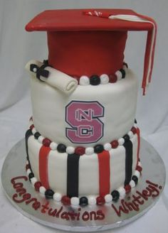NC state graduation cake image!  We may need this for Randall's graduation.