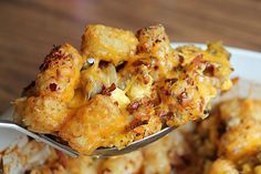 They love breakfast casseroles. They love TATER TOTS. So it stands to reason that this cheesy, eggy bake featuring yummy tots will be a sure winner.