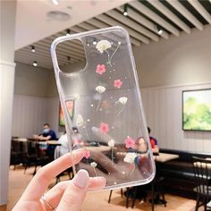 Real Dried Flowers Soft TPU Cute Phone Case For iPhone 11 Pro Max X 7 – Touchy Style