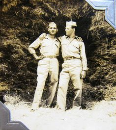 "World War Two, United States Army Air Force (U.S.A.A.F.), 5th Photo Reconnaissance Group, 32nd Photo Recon Squadron, Paul and Leon C. Smith (""Smitty""), Italy"