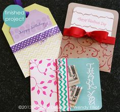 Pocket Gift Cards Tutorial by Wendy