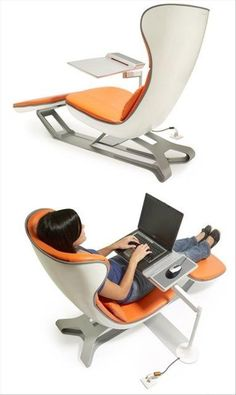 Don't know if these are real or prototypes but would love to have one! #uber #office #chair