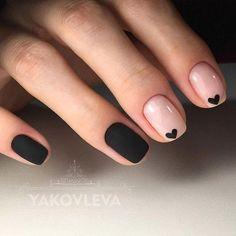 Минималистичный nail-дизайн в чёрно-бежевых тонах! 1