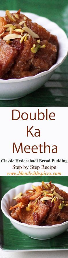 Double Ka Meetha Recipe - A Classic Hyderabadi Bread Pudding for #Ramadan or any other occasion. Step by Step #Recipe. blendwithspices.com