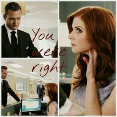 """Donna and Harvey #Suits #Season4 """"you were right"""""""