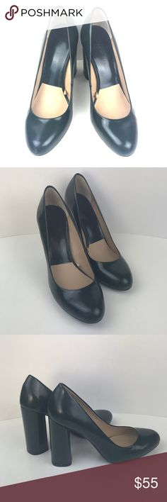 Zara woman autumn winter 2013 high heels shoes Size 40 Excellent Used Condition  Pretty hunter green color - so classy Zara Shoes Heels