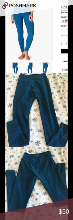 Beyond yoga spacedye long legging sz M Like new beyond yoga spacedye long legging medium black tidalblue color only worn twice I got the wrong size. Still for sale on web site for 88.00.. Sz M! They are so soft! Beyond Yoga Pants Leggings