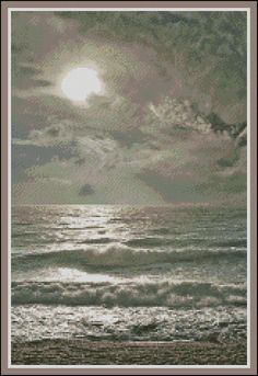 Silvery Waters - Counted Needle Point and Cross Stitch Chart Pattern