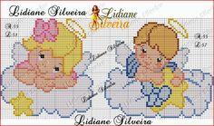 Pinta e Borda (Lidiane Silveira): Anjinhos babys em ponto cruz