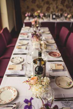 Elegant vintage Paris inspired wedding table decoration