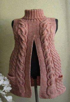 Crochet sweater vest pattern ideas for 2019 Crochet Cardigan Pattern, Vest Pattern, Crochet Shawl, Knit Crochet, Crochet Style, Jumpsuit Pattern, Loom Knitting, Baby Knitting, Knitting Patterns