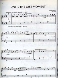Yanni Sheet music