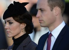 Kate and William remembered the events of 1915 when, under British orders, troops from Aus...