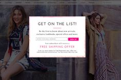Free People | newsletter | email form | email | email marketing | lead generation | email pop up | signup form | e-mail