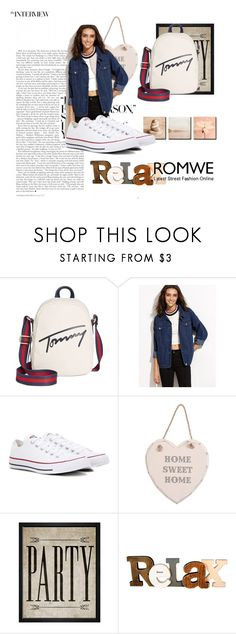"""""""ROMWE"""" by narandzicaaaa ❤ liked on Polyvore featuring Tommy Hilfiger, Converse and Hatcher & Ethan"""