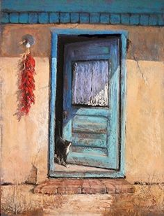 Purrfectly Chili Morning by Margi Lucena Pastel ~ 12 x 9