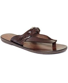 Leather flip flops? A must for Summer days. KENNETH COLE sandals BUY NOW!