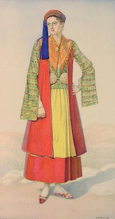 #25a - Woman's Urban-types Dress (Peloponnese, Leonidi)