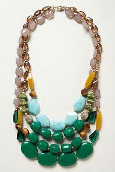 Anthro - Viridian Layer Necklace