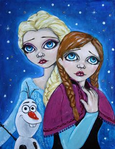 Frozen Original Acrylic Painting, https://www.etsy.com/shop/AngelaRichardsonArt
