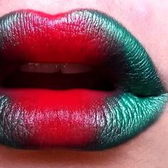Red and Green Lips Good for a poison ivy costume?