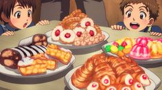 Orga brings back pastries for the kids, Mobile Suit Gundam - Iron-Blooded Orphans, Episode 9.