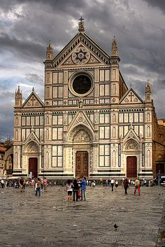 Santa Croce. I loved it there, so peaceful, an amazing place. Even the sky looked like this on the day we visited